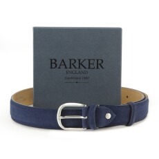 Barker Blue Suede Belt