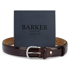 Barker Burgundy Hi-Shine Belt