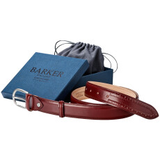 Barker Cherry Star Calf Belt