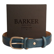 Barker Hand Painted Blue Belt
