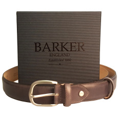Barker Hand Painted Grey Belt