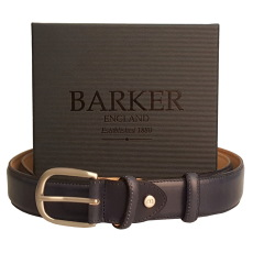 Barker Hand Painted Navy Belt