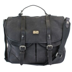British Belt Company Langdale Satchel Carbon