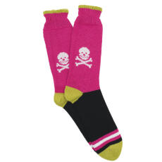 Corgi Socks Pink Skull and Crossbones