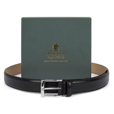 Crockett and Jones Black Calf Leather Belt