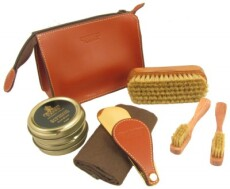 Crockett and Jones Leather Travel Kit