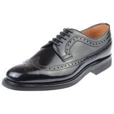 Edward and James Anthony Black Rubber Sole