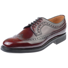 Edward and James Anthony Burgundy Rubber Sole