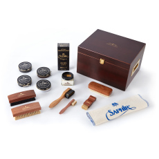 Edward and James Saphir Luxury Plus Suede Valet Box