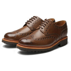 Grenson Archie C Dark Brown Grain