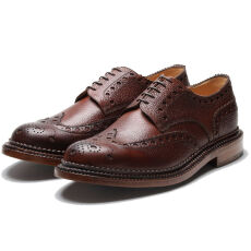 Grenson Archie Triple Welt Dark Brown Grain