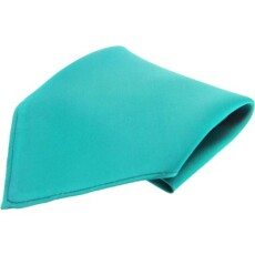 Soprano Accessories Turquoise Satin Silk Handkerchief