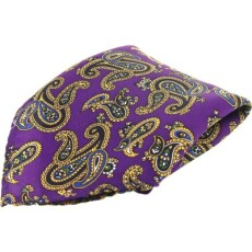Soprano Accessories Purple Paisley Handkerchief