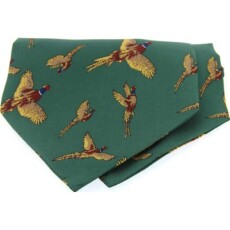 Soprano Accessories Green Large Flying Pheasants