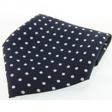 Soprano Accessories Navy with White Polka Handkerchief