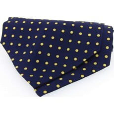 Soprano Accessories Navy with Yellow Polka