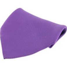 Soprano Accessories Purple Satin Silk Handkerchief