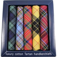Soprano Accessories Tartan Cotton Hankies - 5 Pack