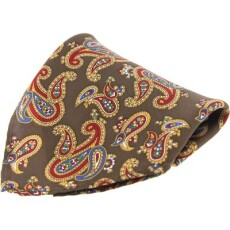 Soprano Accessories Brown Paisley Handkerchief