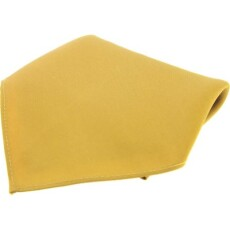 Soprano Accessories Gold Satin Silk Handkerchief