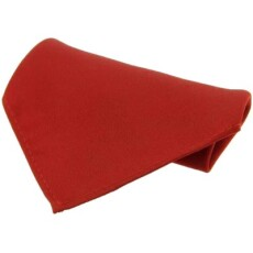 Soprano Accessories Red Satin Silk Handkerchief