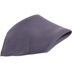Soprano Accessories Slate Grey Satin Silk Handkerchief