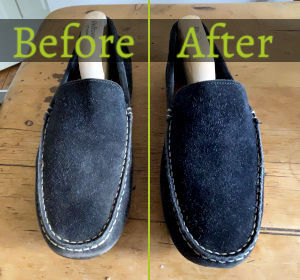 Finished Pair of Suede Loafers