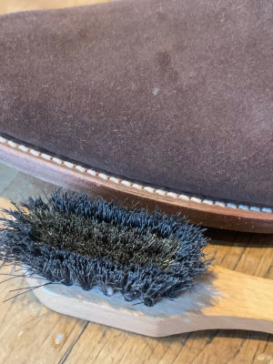Brown Suede after brushing